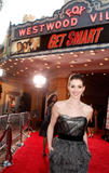 Anne Hathaway shows cleavage at premiere of Get Smart movie in Los Angeles