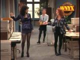 Maura Tierney, Vicki Lewis, Bebe Neuwirth on &quot;NewsRadio&quot;